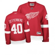 Reebok Detroit Red Wings 40 Womne's Henrik Zetterberg Red Women's Authentic Home NHL Jersey