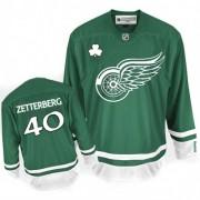 Reebok Detroit Red Wings 40 Youth Henrik Zetterberg Green Premier St Patty's Day NHL Jersey