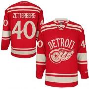 Reebok Detroit Red Wings 40 Youth Henrik Zetterberg Red Premier 2014 Winter Classic NHL Jersey