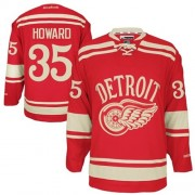 Reebok Detroit Red Wings 35 Men's Jimmy Howard Red Authentic 2014 Winter Classic NHL Jersey