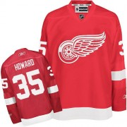 Reebok Detroit Red Wings 35 Men's Jimmy Howard Red Authentic Home NHL Jersey